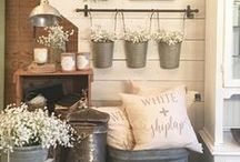 Country Cottage Farmhouse / Country, Cottage, Farmhouse, and Shabby Chic decor.