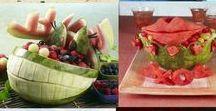 Présentation plateau charcuterie ou légumes ou fruits / jolie déco pour plat de charcuterie ou légumes