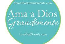 """Ama a Dios Grandemente / Ama a Dios Grandemente es un grupo de mujeres cristianas que se mandan emails o usan facebook, twitter, pinterest o mensajes de texto para ir animándose unas a otras en su tiempo devocional y para tener que """"rendir cuentas"""" a otras.  Español: http://www.amaadiosgrandemente.com Ingles: http://www.lovegodgreatly.org/"""