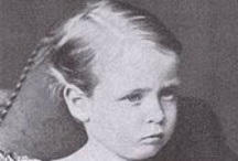 "Hesse Friedrich 5th Child Alice & Louis IV / 5th Child Friedrich (Friedrich Wilhelm August Victor Leopold Ludwig) ""Frittie"" (7 Oct 1870-29 May 1873) son of Alice (1843-1878) UK & Louis IV (1837-1892) Hesse & was born with hemophilia. Friedrich & his brother Ernst were playing in their mother's room & Ernst ran to another room. Friedrich climbed onto a chair by an open window to see his brother. The chair tipped over & Friedrich fell through the window. He survived the 20 foot fall but died of a brain hemorrhage after a few hours."