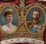 "Couple George V & Mary of Teck / Couple King George V (George Frederick Ernest Albert) (1865-1936) UK & Wife Mary ""May"" (Victoria Mary Augusta Louise Olga Pauline Claudine Agnes) (1867-1953) Teck, Germany. George V is 2nd child of King Edward VII (Albert Edward) (1841-1910) Prince of Wales, UK & wife Princess Alexandra (Alexandra Caroline)) (1844-1925) Denmark. Mary ""May"" is 1st Child of Duke Francis (Francis Paul Charles Louis Alexander) (1837-1900) Teck, Germany & Princess Mary Adelaide (1833-1897) Cambridge, UK."
