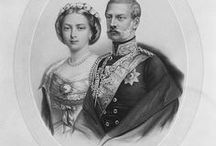 "Couple Fritz III & Vicky / Couple King Frederick III ""Fritz"" (Friedrich Wilhelm Nikolaus Karl) (18 Oct 1831-15 Jun 1888) Prussia-Germany & wife Queen Victoria ""Vicky"" (Victoria Adelaide Mary Louisa) (21 Nov 1840–5 Aug 1901) UK-Prussia-Germany."