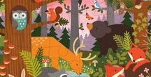// Theme: Forest Toys + Decor // / Dapper foxes, clever rabbits, and burly bears: woodland friend themed toys, gifts and decor from Petit Collage.