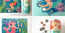 // Theme: Ocean Toys + Decor // / On the beach and under the seas: ocean themed toys, gifts, and decor from Petit Collage.