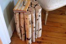 Birch DIY / Birch inspiration DIY. From small to big birch decorations