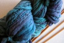 My hand dyed yarns / Hand dyed yarns for knitting, weaving, crocheting. Different weights and yarn contents.
