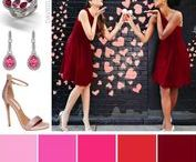 Colors of Love / Red and Pink Wedding and Fashion Inspiration by David Tutera