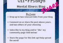Off-Fridays Mental Illness Blog Share / This is the OFFICIAL Pinterest board for the #OffFridays Mental Illness Blog Share on Betty's Battleground. Find the first week link-up and general rules here: http://www.bettysbattleground.com/2017/05/12/blog-share-wk1-mothers/ It's open to all bloggers so add your link today!