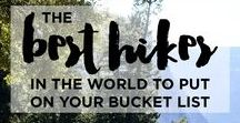 Best hikes in the world / Discover the best hikes around the world. We will show you the most beautiful hikes anywhere, how to plan a hiking tour, best hikes to put on your busket list.