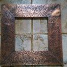 Copper mirror frame / Copper mirror frame,pine wood frame covered with hammered copper.