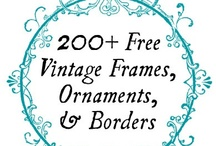Free Clip Art, Frames, & Embellishments / Free For Personal or Commercial Use Freebies including: Clip Art, Frames, & Embellishments / by Carolynn Reynolds