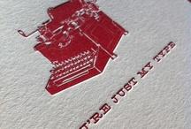 Sweet letterpress/typography