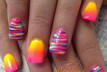 NAILS / nail polish colors art designs eye-shadow ideas & lips / by Andrea Greene