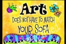 Art does not have to match your sofa / This Board is devoted to the promotion of individuality and self expression.  As a therapist and life coach I encourage the beauty that is in you, to be allowed full expression.  Let this board show you the  vast range that art has and let it inspire your creativity. The entire web of life in all of it's expressions is energetically intertwined, and so it is.  