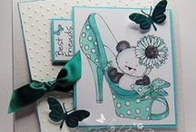 Party Paws - Crafter's Companion / These huggable, adorable characters are perfect for all your crafting creations. As well as the characters each stamp also features some sweet sentiments, giving you everything you need for fabulous, gorgeous card toppers for a wide variety of occasions.