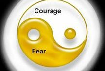 "Fear or Courage  / FEAR IS CREATED WITH OUR THOUGHTS.  DANGER IS REAL AND SO PROBLEM SOLVING IS NEEDED TO DEAL WITH HOW TO STAY SAFE. FEAR STRIPES US FROM LIVING A LIFE WE CAME TO LIVE. ONCE YOU DO WHAT YOU FEAR, YOU WILL NOTICE THAT YOUR FEAR WILL DISAPPEAR. TRY IT. IF YOU NEED COURAGE LESSONS. COME SEE ME, OR CALL. http://www.shoshannaapril.com / by Michele ""Shoshanna"" April, LCSW"