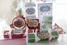 Die'sire Prestige Only Words Christmas from Crafter's Companion / The Prestige Only Words collection will allow you to say it in style - each elaborate die contains a heart-felt sentiment encased in an ornate frame to give huge impact in your crafting projects. The designs are real statement pieces, so you won't need to add much to them in your crafting projects for you to produce stunning results!