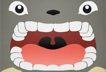 Totoro and Friends / A Studio Ghibli inspired Pinterest board, of all things Studio Ghibli... characters, collectibles, artworks and more <(o.O<)