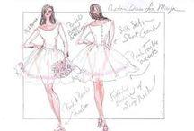 Wedding Dress Sketches / I love designing wedding dresses and sketching brides! #weddingdresssketch #weddingdressdesign