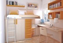 Room Designs / An artsy-fartsy Pinterest board of space saving, and smart and artsy rooms! <(o.O<)