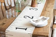 Runners, Placemats, Potholders / A round up of placemats,  table runners and potholders.