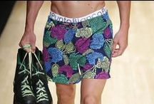 """080 BCN Fashion SS/2015 men / Summer 080 Barcelona Fashion. """"Past meets future in Miami"""" underwear collection by Punto Blanco. Spring/summer 2015 collection for men."""