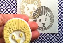 DIY.. Block Printing / Printing on fabric using stamps