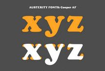 AUSTERITY FONTS / Serif fonts without their serifs - An experimental typeface project by Joseph Ernst