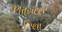 Die Plitvicer Seen in Kroatien / Die Plitvicer Seen sind der schönste und größte Nationalpark in Kroatien und landschaftlich gesehen zählt er zu den schönsten in Europa.   16 türkisfarbene Seen reihen sich kaskadenartig wie eine Perlenschnur aneinander, schöner geht es kaum!