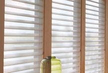 Sheer Shades / Sheer shades feature soft fabric vanes that look to be floating between two sheer pieces of fabric. Simply tilt the vanes to give you privacy or to control the light. You can also lift the shades all the way up for a full view.