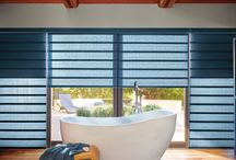 Roman Shades / Roman shades feature full or flat folds of fabric in a variety of styles, opacities, and colors.