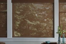 Natural Woven Shades / Natural woven shades add an organic touch to your home. Choose from many different textures such as grasses, bamboos, or reeds.