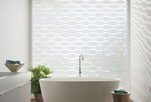 Transitional Shades / Transitional shades consist of sheer and solid bands of fabric in one shade.  Overlap the bands to give you privacy or open them to have view through.