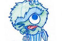 Blue Doodles :D