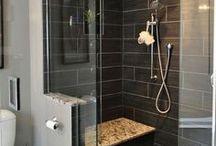 Ванная 1 / Ванная на первом этаже. Место для сауны. Место для котов. Минимум дерева.