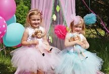 La Lalla dolls / Beautiful custom dolls with matched dresses and accesories for kids and doll. Hard not to love them!