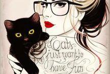 Here kitty, kitty, art