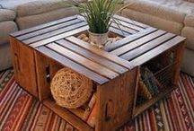 Crate Inspiration For The Home / Although our plastic storage crates are hardwearing, reusable and eco friendly, that doesn't mean old wooden crates should be neglected. We love DIY crate projects!