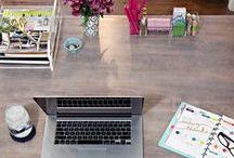 Office Organization / Home office - desk organization - escritorio - college - study - planification