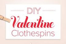 Clothespin Crafts / Check out these cute Valentine's Day clothespin craft ideas and download printable templates to customize as gifts for loved ones! / by Purex