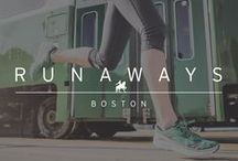 """FIELD GUIDE: BOSTON, MA / OurfieldguidetothebestroutesandworkoutsforexperiencingBoston'shistory, FindingYourStrong andhowto""""BeattheT""""inourBostonGreenLinePack - Kinvara 7 and Triumph ISO 2 with Saucony employees Jonathan Pierce and Lucile Cancre. WELCOMETOOURHOMETOWN!"""