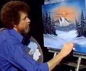 Painting tutorials Bob Ross