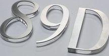 House modern numbers sign / modern house number stainless steel	silver number	modern style number	house number	wall number	modern architecture	oryginal number	unique number	address number