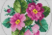 Etamin-Kanaviçe-Çiçek