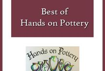 Best of Hands on Pottery / Hand thrown art stoneware-- many with horses, landscapes and animals.  All items oven, microwave, and dishwasher safe. See more at our website: http://www.handsonpottery.net