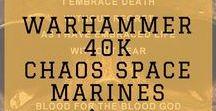 Warhammer 40000 Chaos Space Marines / #Warhammer40kChaosSpaceMarines #GamesWorkshop #40 #ChaosSpaceMarines #SpaceMarines #Warhammer #toy soldiers