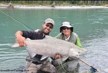 Trout and Salmon Fishing on the Pitt River  / Great Shots of our clients fishing in the Upper Pitt River for Sea-Run Bulltrout and Pacific Salmon