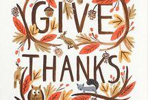 HOLIDAYS: Thanksgiving + Fall