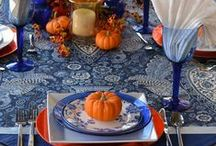 Sassy Thanksgiving Table / Everything you need for entertaining. #Thanksgiving,#food,#recipes. Go to www.lizbushong.com