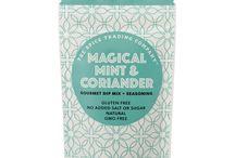 Magical Mint & Coriander / A versatile mix of refreshing flavours. Dip me! Season me! Sauce me! Sample me!